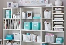 Future office and craft room / Ideas and inspiration for turning my sunroom into an office and craft room.