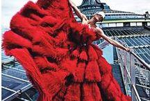 Красные вечерние платья.