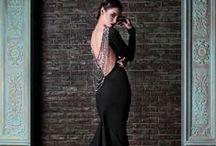 Черные вечерние платья.