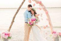 Морская тематика в свадьбе.