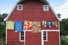 Barns & Quilts / favorite old country barns, weathered & loved.  Quilt patterns, color combinations & ideas! / by Lori Sporer