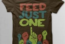 T-SHIRTS FOR GOOD / What a great way to help others.  T-shirts are a staple in everyone's closet, why not give to good causes at the same time.
