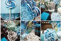 Blue themed Candy by Color / The Wakarusa Dime Store has a variety of candy by color that would be a perfect addition to your candy buffet!