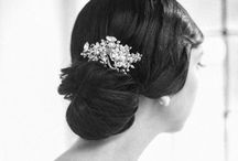 1920s + 1930s wedding hair / Vintage inspired