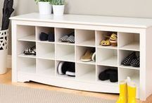 Mudroom / How to organize the mudroom and entryway to be the most efficient with your space.