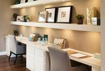 Office Design Ideas / Clean, simple and white office designs.