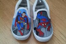 Shoes - Spiderman / Shoes with spiderman theme