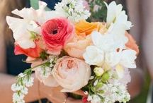 Wedding bouquet and flowers / Vintage inspired. Pastels, peonies, ranunkles