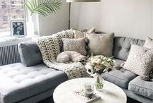 Living Room / Light and bright living room ideas on a budget.