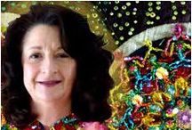 Fabric Beading by Nancy Eha / I have been experimenting with beads and fabric for 20+ years.  I teach workshops and have authored 3 beading books My website www.BeadCreative.com