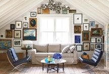 Horchow Now: Gallery Wall / Lifestyle Director Sally Horchow shares some of her favorite art, mirrors and wall decor to create a very good-looking arrangement. / by Horchow
