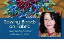 Beading on Fabric / Fabric beading, bead embroidery, beadwork!