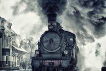 Trens e pontes.