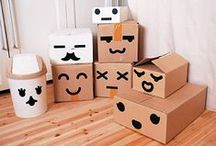 Cardboard and paper
