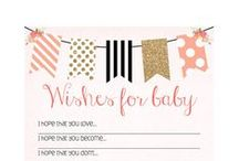 Julie's Baby Shower / Pinned here are the ideas and inspiration to give Julie and miracle baby Brooklynne the baby shower she's always dreamed of!  The theme is black/white stripes with peach, gold, and coral pops of color. She'd also like some Chanel themed accents to complete the glamorous look!  Think gold, glam, diamonds, and a little bit of charm!