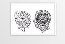 Mandalas  | Zentangle  | Drawings / Mandalas  | Zentangle  | Pattern Inspiration for pen and ink drawings