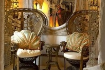 Sera of London / Interior Designer Sera Hersham-Loftus. Queen of the boudoir look - exotic, sumptuous, seductive, glam, romantic and best of all, completely over-the-top. / by Flashback Furnishings