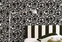 Marimekko B&W | Collection / Selected Black and White Marimekko wallpaper patterns exclusively imported by NewWall.com