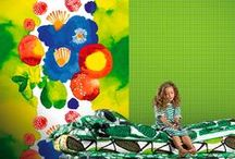 Marimekko Murals | Collection / Marimekko murals. Discover more wallpaper patterns at NewWall.com