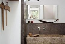 Bathrooms-Rough Luxe / Rustic Styled Bathrooms / by Cindy Hattersley Design/Rough Luxe Lifestyle Blog