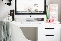 home office ❤ / Decoração de ambientes de trabalho, escritório e home offices