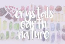 crystals + earth + nature / Beautiful pieces that come from earth or are inspired by the beauty of earth.