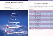Airlines Fleet / Fleet of airlines throughout the brochures and inflight magazines