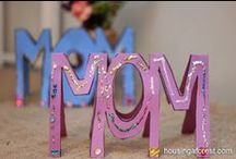 Mother's Day Ideas / Crafts, ideas and gifts for Mom and Grandma!  Kid-made gifts for her, heartfelt ideas, ways to give her a memory,  DIY cards and ways to help her relax, enjoy and feel special!