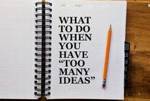 Creativity & productivity / tips + inspiration for working smart