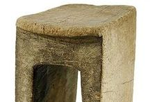 stools and pedestals / used for sitting or propping~