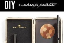 { DIY } Makeup Palettes / Streamline your cosmetic cases and makeup bags into functional palettes.