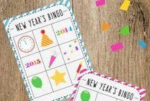 New Years Eve / Kids activities for New Year's Eve, fun ways to ring in the New Year and goal setting for kids and families -- Celebrating the new year together!