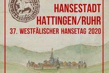 Hansestadt Hattingen / Als Hansestadt gehörte Hattingen zum rheinisch-westfälischen Drittel (ab 1554 zum Kölner Quartier), das von 1450 bis 1469 und wieder ab 1554 durch die Stadt Köln als Vorort innerhalb der Städtehanse repräsentiert wurde. Auf den Drittels- bzw. Quartierstagen wurden die Interessen der Stadt Hattingen von den Prinzipalstädten Unna und Hamm wahrgenommen.