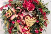 VALENTINE DAY WREATHS/SWAGS / Valentine wreath / by Diane Ameres