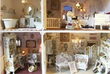 MINIATURES: Dolls, Houses, etc. / Miniature Dollhouses and Accessories for Grandpa's Handmade Dollhouse 1:12 Miniatures / by Kasey Christopherson
