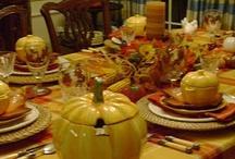 THANKSGIVING TABLESCAPES / THANKSGIVING TABLESCAPES / by Diane Ameres