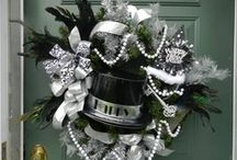NEW YEAR WREATHS/SWAGS / New years wreaths / by Diane Ameres
