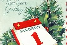VINTAGE NEW YEAR CARDS / Vintage New Years Cards / by Diane Ameres
