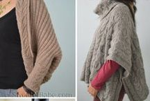 Poncho, Cape, and Shrug Knitting Patterns / by SweaterBabe.com