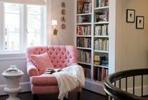 Libraries and Reading Nooks / Cozy reading nooks and beautiful libraries.