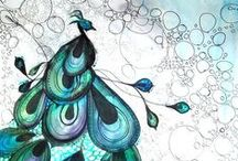 14 ~ Birds of a PEACOCK Feather / by Nancy Miller
