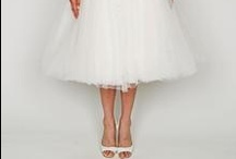 Tea Length Wedding Dresses / Love the tea length wedding dress? Natalie Portman showed one off in her recent wedding. If you're looking for a tea length dress, her are some of our favs!  http://www.smartbrideboutique.com/blog/natalie-portmans-tea-length-wedding-dress-for-less/20120813/937/