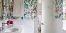 Banheiro do apê / Ideias de decoração para banheiros pequenos.