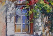 Doors + Windows / Hier seht ihr etliche meine Gemälde mit Türen und Fenstern als Motive. Ich finde sie erzählen immer eine Geschichte - was verbirgt sich dahinter, wer wohnt wohl dort ...unterschiedlichste Türen, in der Provence, Friesenhäuser, Landhäuser, Fincas, aber auch Gartentore und Klostertore.... wer ist schon alles hindurch gegangen? Wer mich kennt weiß - ich liiiiebe Geheimnisse!