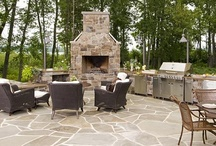 Outdoor Kitchen / Outdoor kitchens are becoming more and more popular.  People really like to make their outdoor space a part of their home and having an outdoor kitchen brings the comfort of your home into your backyard.