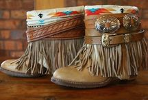 Junkie Boots. / Each boot is one of a kind and unique. No two pairs are alike. Handmade by yours truly. These are a few of our favorite styles we have created.  / by The Feather Junkie