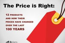 12 Products and How Their Prices Have Changed Over the Last 100 Years / This look back through history proves that the price of products is never set in stone. From electronics to food and appliances, very few products have remained in the same price range when compared to their original counterparts. / by Bplans