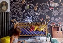 KIDS ROOMS / Look away from the blue and pink ducks. Here is a round-up of some of the most stylish, chic kids rooms I could find. Kids room design inspiration on fleek! Room makeover. Little girl room. Pink home decor. Whimsical kid's bedroom. Imagination. Fun and colorful home decor for a kid. Unique playroom. Add personality to a playroom. Eclectic nursery. Bunk bed.
