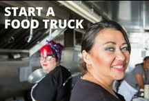 Start a Food Truck / Wondering how to start a food truck business? From thriving cities to small downtown areas, food on wheels is a growing trend. It's not just drawing a new crowd of eat-on-the-street customers, it's bringing in big bucks too. If this knowledge has your entrepreneurial spirit in high gear and you're interested in learning how to start a food truck, we've got the tips and tricks to help you start selling must-eats from the streets.