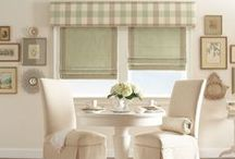 Roman Shades / Roman shades are a popular solution for those who admire the elegant look of draperies, but want the modern conveniences of window shades. They also provide extra insulation, which helps save on energy costs. Choose from a variety of styles including balloon shades, tear drop shades, cascading folds and relaxed folds—all of which can bring your home to life.